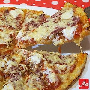 Рецепт вкусной домашней пиццы на тонком дрожжевом тесте